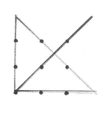 9つの点の外側まで線
